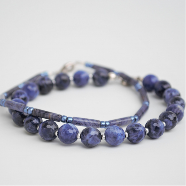 Sodalite Stacked Bracelet Set