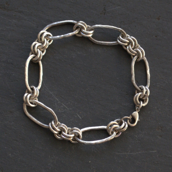Sterling Silver Fine Silver Chain Bracelet Made to Order Rustic Jewelry
