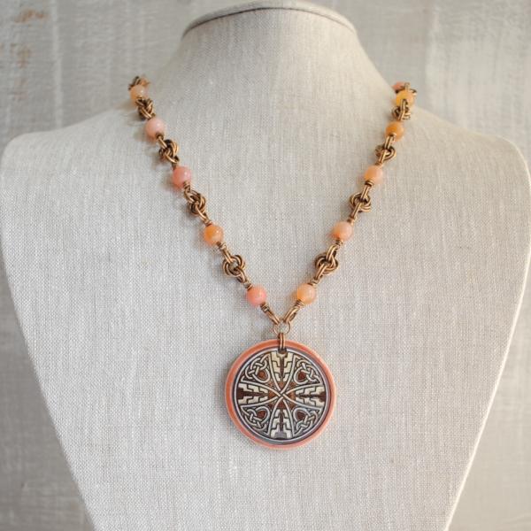 Sale was 80 now 60 Celtic Cross Necklace, Irish Jewelry, Celtic Jewelry