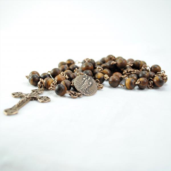 Saint Patrick Rosary Irish Rosary with Shamrocks