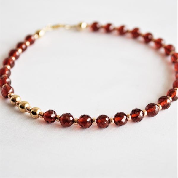 Garnet Beads Bracelet St Valentine's Day Jewelry