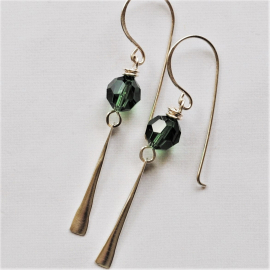 Custom Crystal Earrings Pick your color