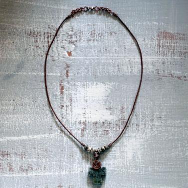 Connemara marble on Greek leather cord
