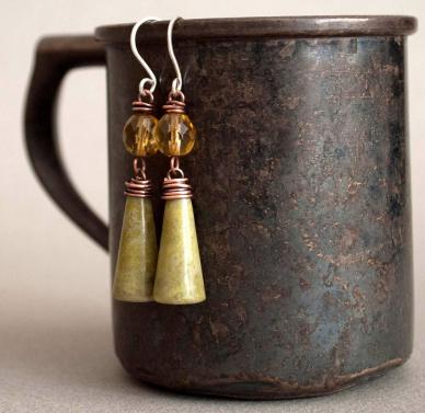 Connemara marble earrings