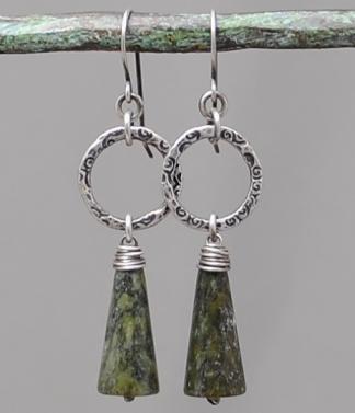 Connemara Marble and Triskele Earrings