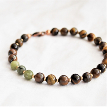 Connemara marble and tigers eye bracelet