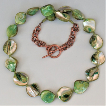 Shell Necklace - Green