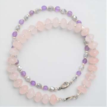 Rose Quartz and Amethyst