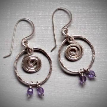 Sterling spiral earrings