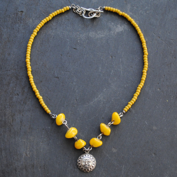 Yellow Sun Necklace  ON SALE was 55 now 49.50